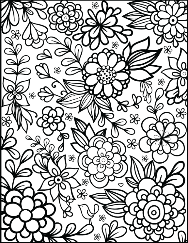 Free Coloring Pages 21 Gorgeous Floral Pages You Can Print And Color Printable Flower Coloring Pages Detailed Coloring Pages Flower Coloring Pages
