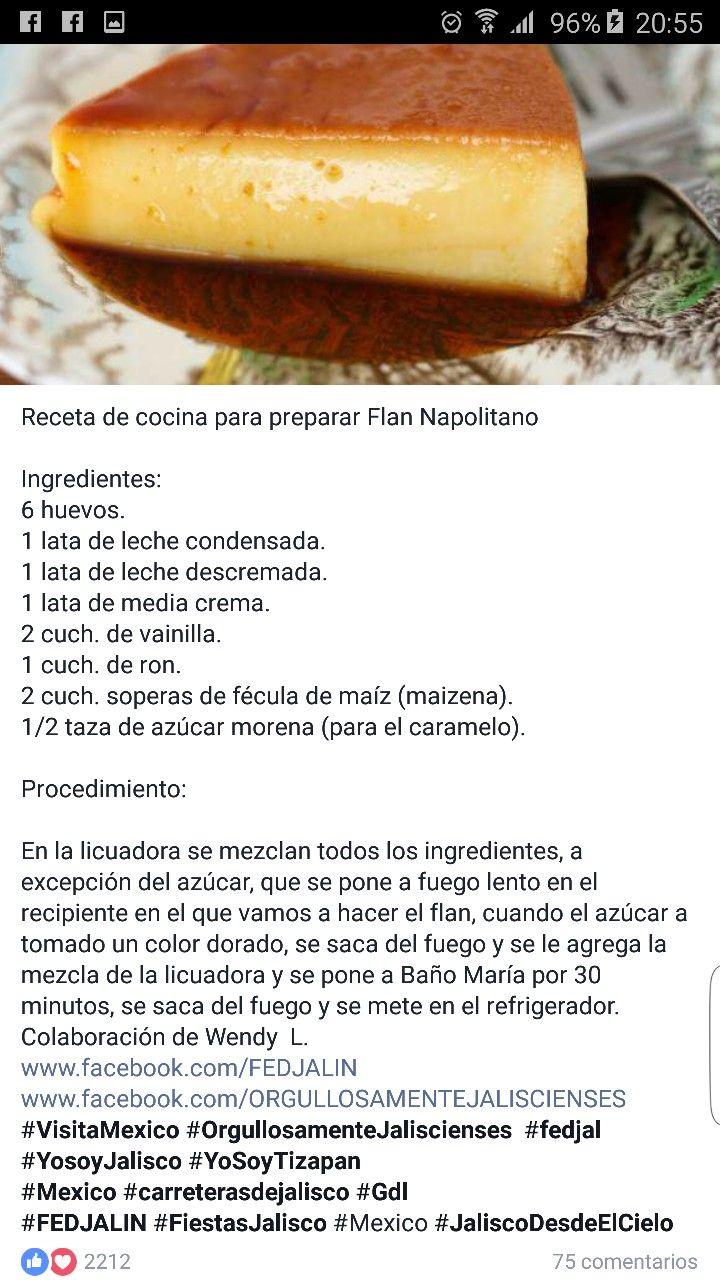 Flan De Licor Flan Casero Receta Recetas Fáciles De Comida Recetas Faciles Postres