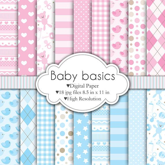 Baby Basics - Digital Paper Set | 스티커