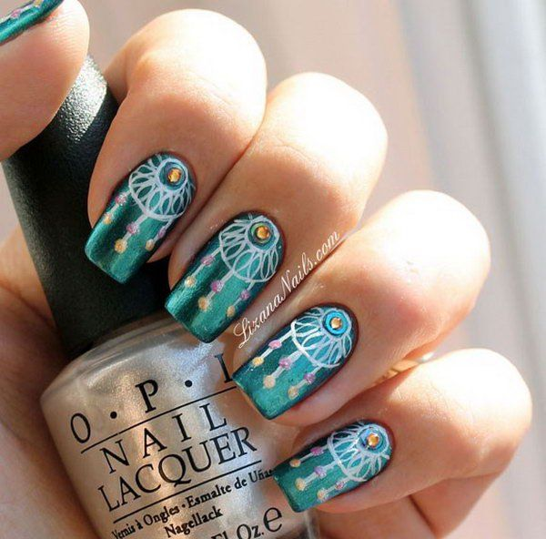 Lots of dream catcher nail designs and ideas. How beautiful and unique with  such good - Lots Of Dream Catcher Nail Designs And Ideas. How Beautiful And