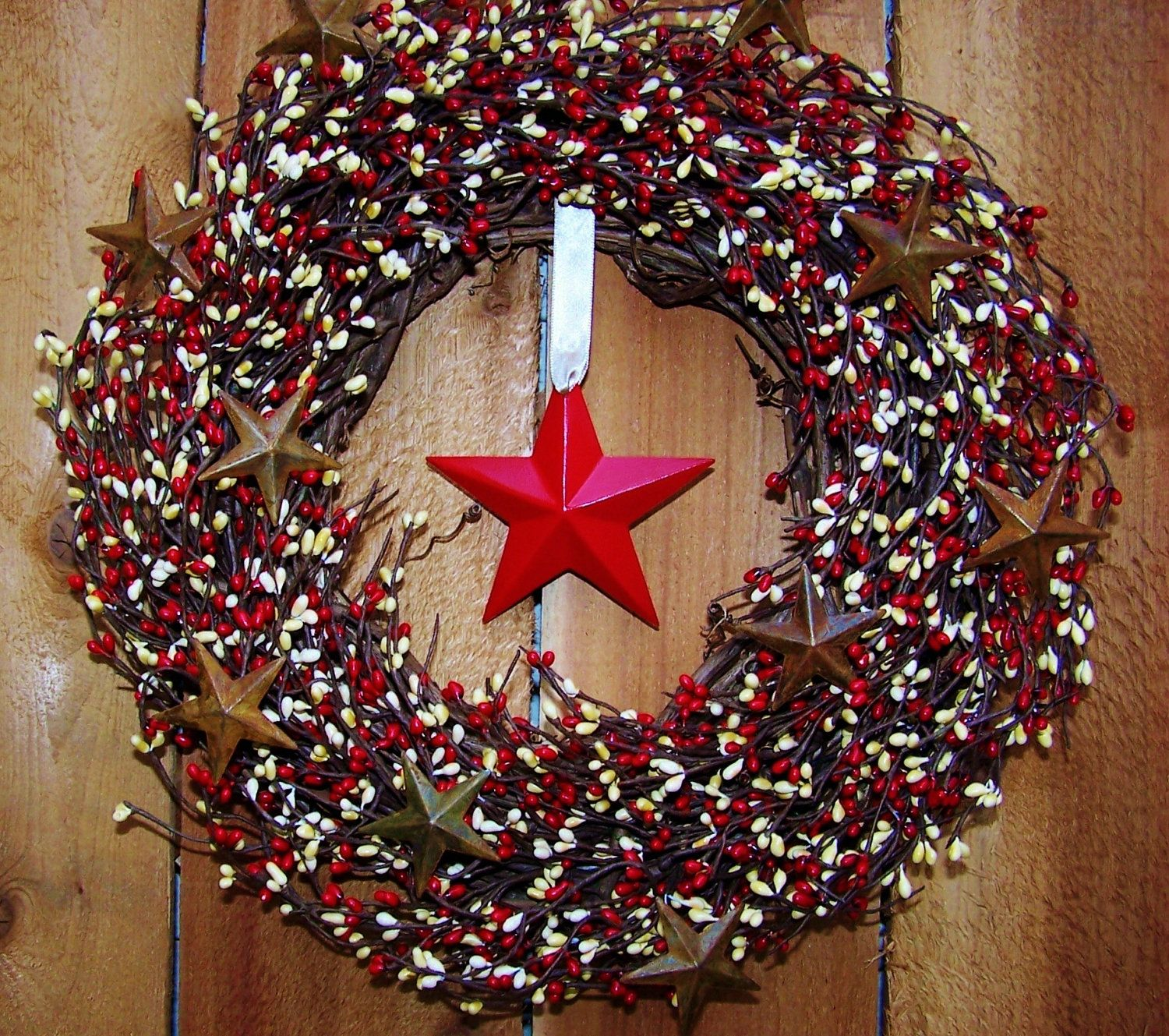 Country Americana Christmas Decor Country Christmas Decorations Holiday Crafts Diy Christmas Wreaths