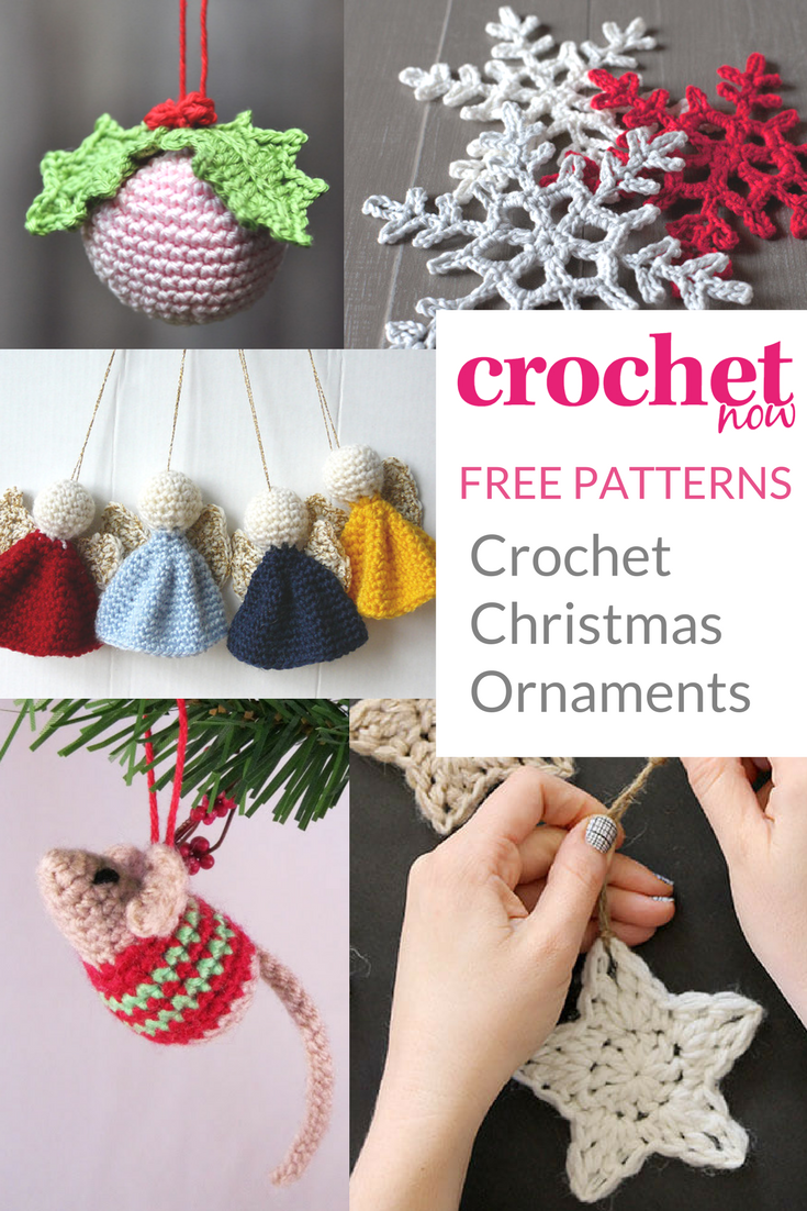 FREE PATTERNS! Crocheting your own Christmas ornaments and ...