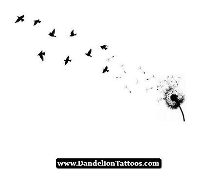Pin by Brie Patton on Tattoos | Dandelion bird tattoos ...