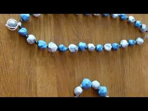 Steinoptik Kette (basteln leicht gemacht) - YouTube