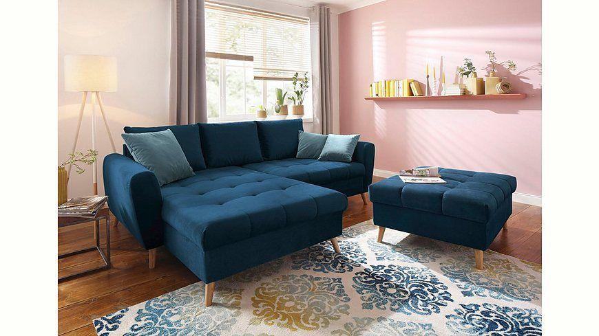 Quelle Sofa home affaire ecksofa penelope mit longchair feiner steppung im