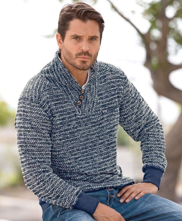 cea4ee1f Redhill herre genserRedhill strikket genser med v- hals, krave og knapper.  Herlig strikket
