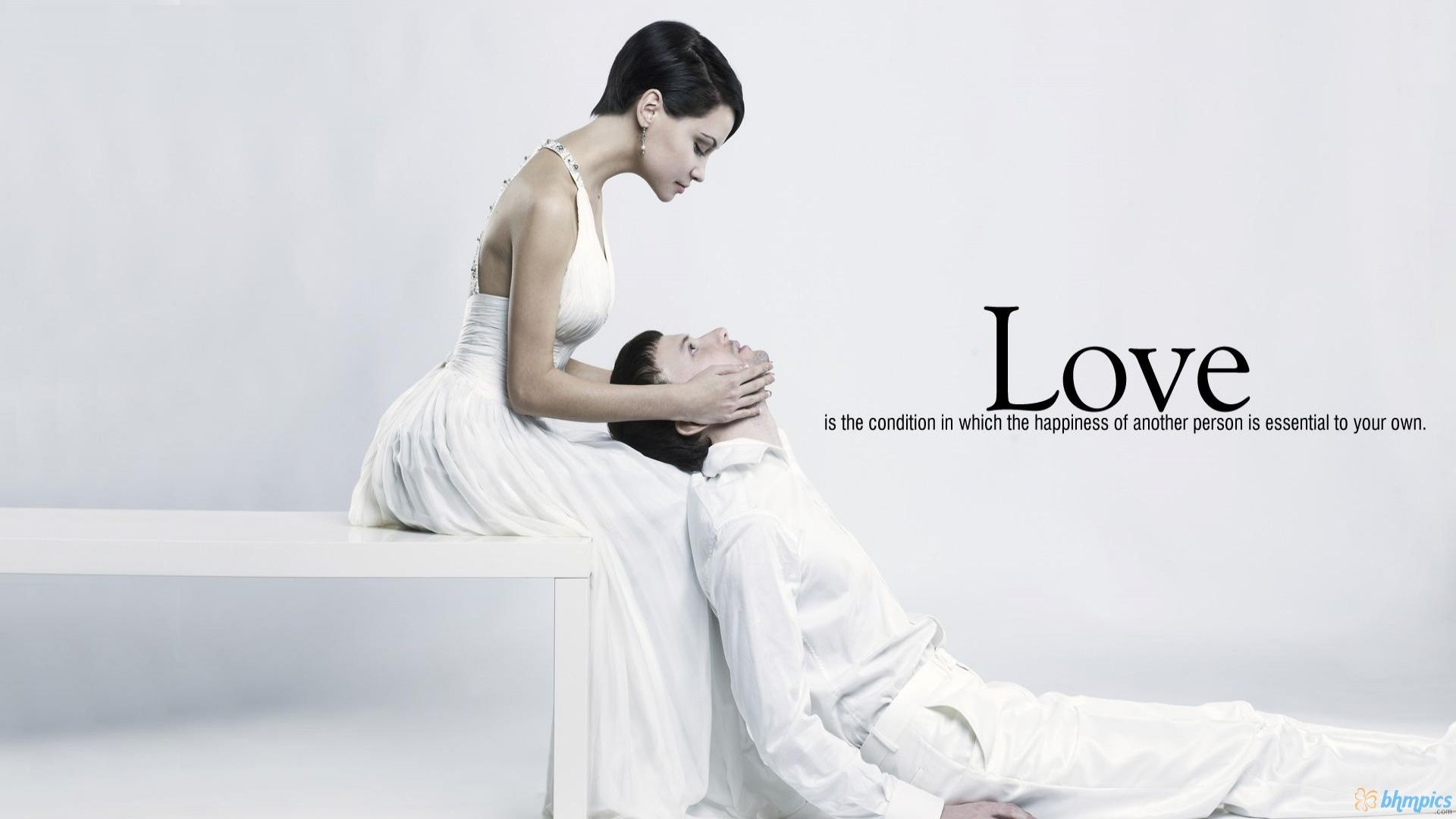 Couple in Love Quotes Background HD Wallpaper