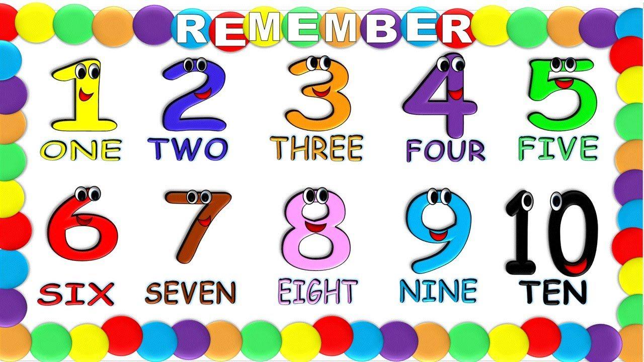 Numbers In English 1 To 10 For Children New Numeros En Ingles 1 Al 10 Numeros En Ingles Lectura De Palabras Actividades De Inglés Para Niños