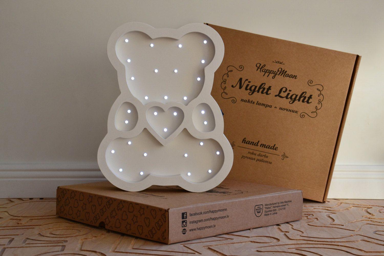 Babyzimmer Nightlight ~ Bear night light marquee sign nightlight nursery nightlight night