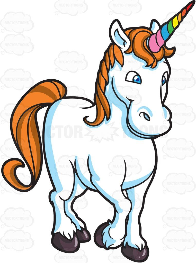 A Lovely Unicorn Unicorns Vector Unicorn Stock Art