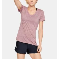 Photo of Under Armor Women's Ua Tech ™ top with twist effect and V-neckline Pink Sm Under Armor