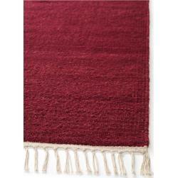 Photo of benuta Wollteppich Mala Dunkelrot 170×240 cm – Naturfaserteppich aus Wolle benuta