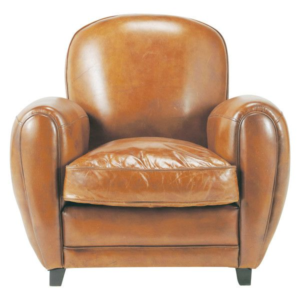 maisons du monde - fauteuil club cuir vintage - 599€ | shopping