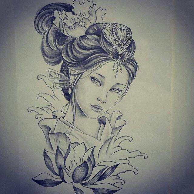 Makaivio Gama Desenhos Desenho De Tatuagem De Gueixa Tatuagem