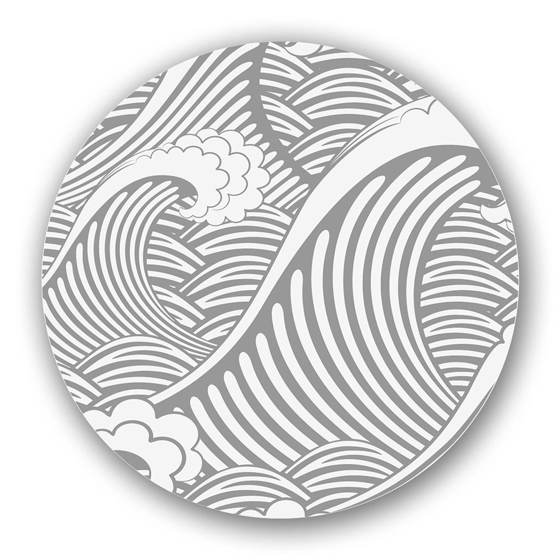 Best Grey Off White Custom Printed Lazy Susan 16 Black 400 x 300