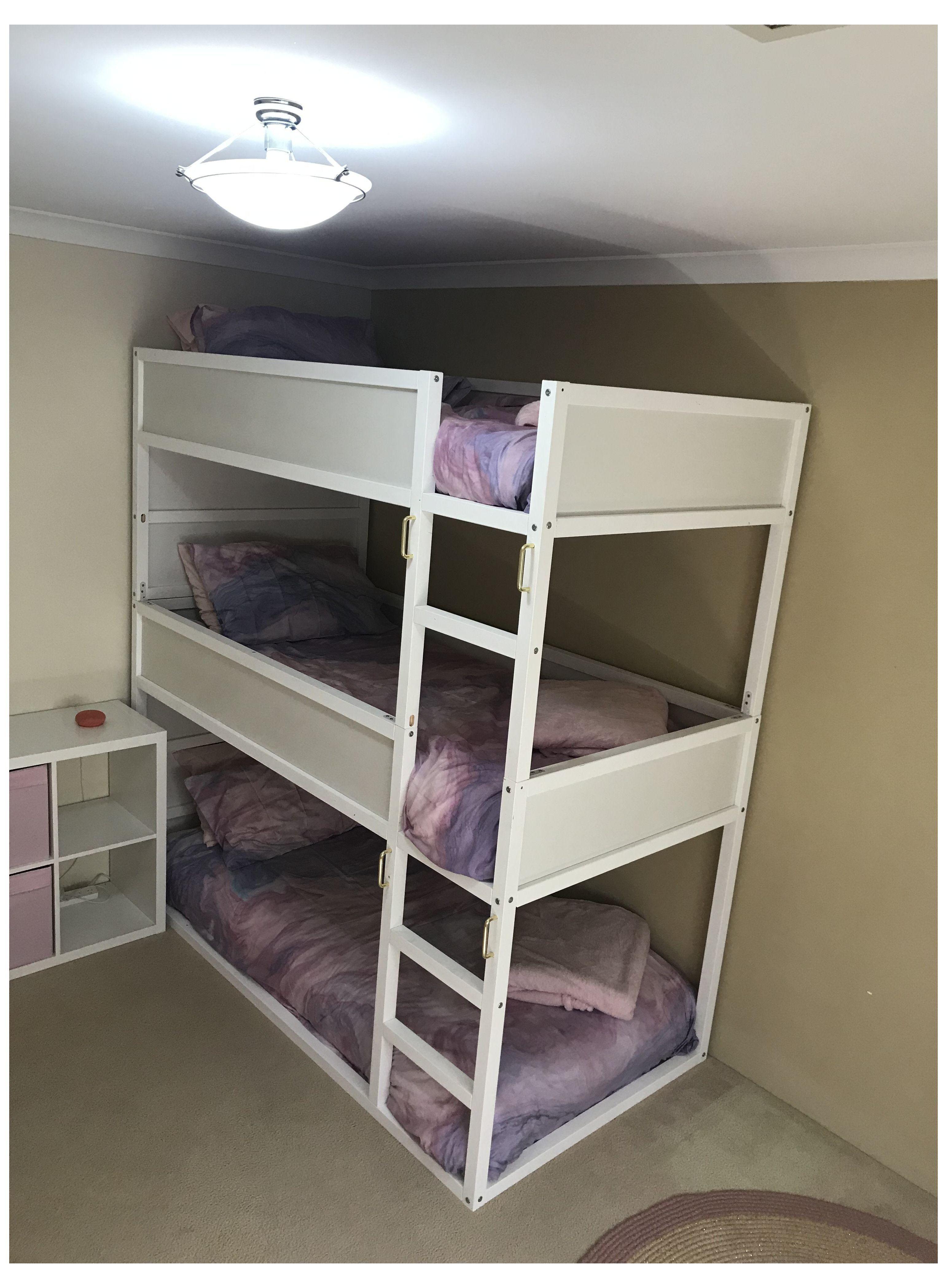 Ikea Kura Triple Bunk Bed Ikeakuratriplebunkbed In 2021 Designs Beds