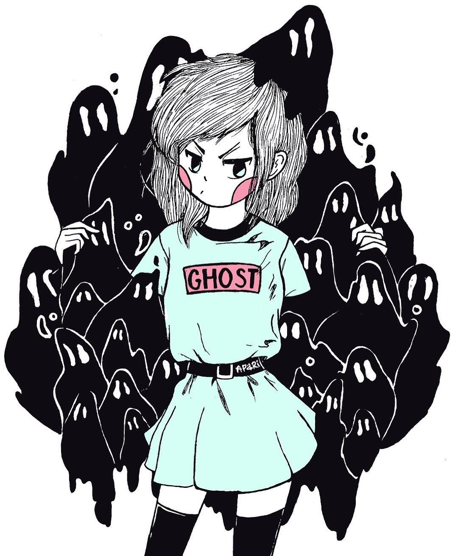 Anime Girl Aesthetic Drawing