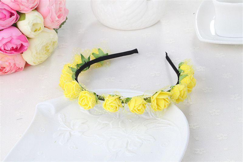 Headpiece Rose Flower Headbands Floral Crown Hair Garland Wedding Headwear