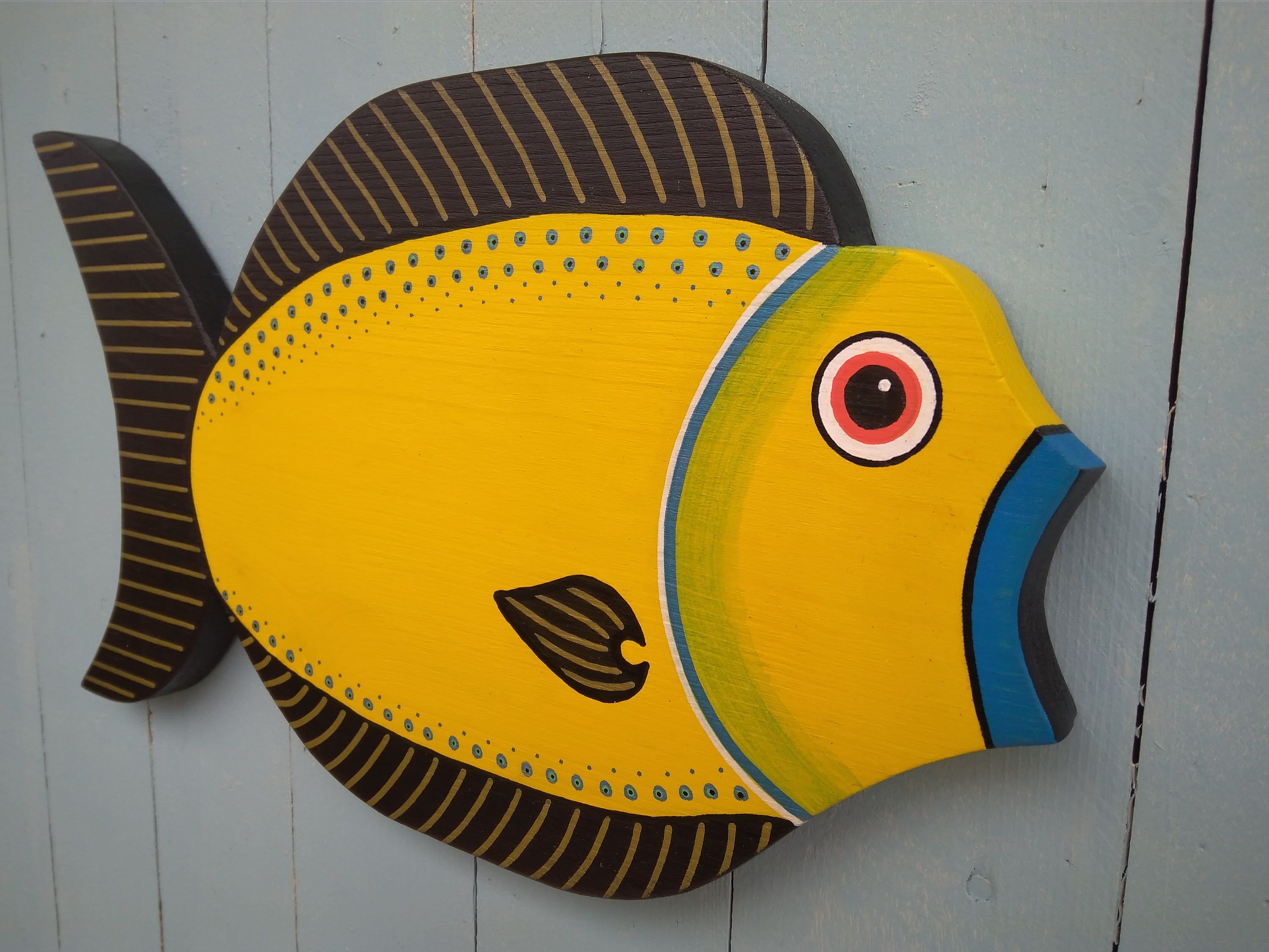 Wood Fish,Beach,Beach Art,Wall art,Tropical Fish,Scuba,Diving ...