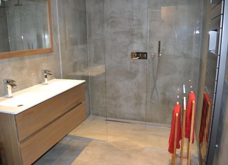 Badkamer Beton Cire aangebracht door Beton Cire Centrum   Badkamer ...
