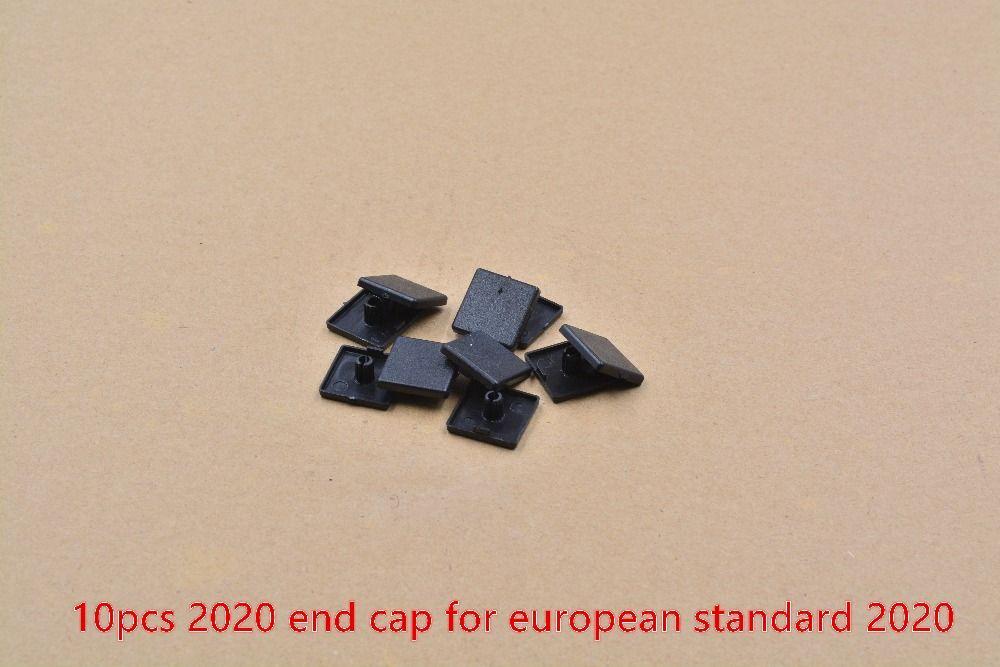Plastic end cap cover plate black for EU aluminum profile prat 2020 end face nylon rubber cover cap workbench 10pcs #Affiliate