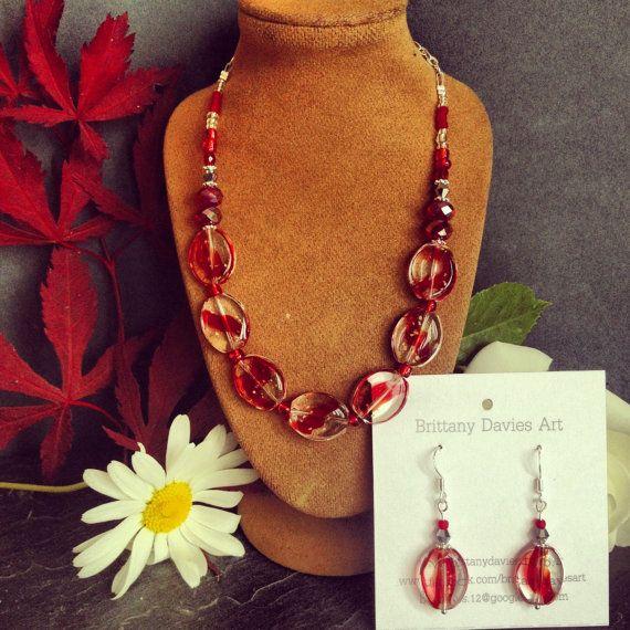 Striking Unique Necklace Set £5 earrings, £10 necklace, £13 set