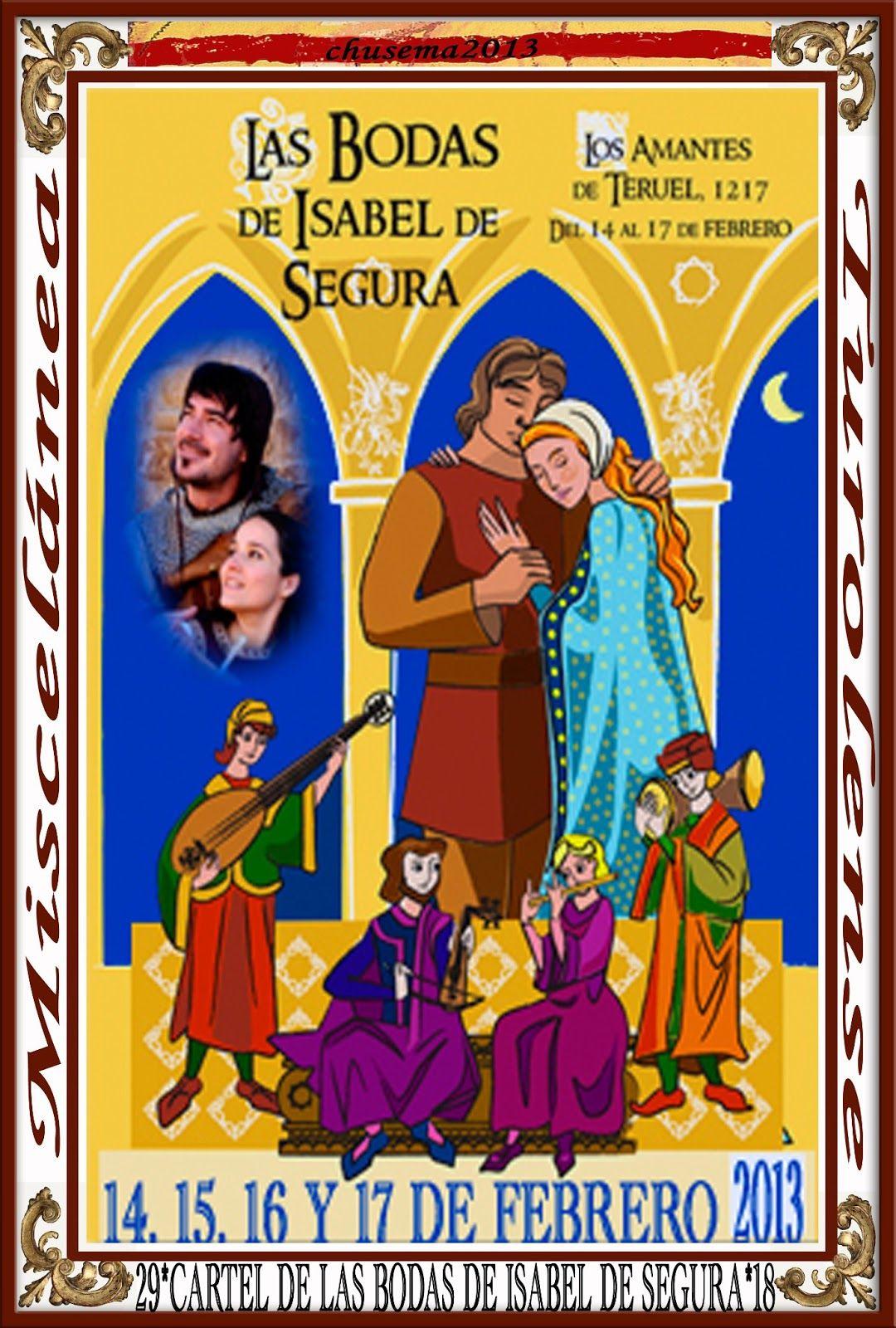 Cartel Bodas de Isabel de Segura 2013