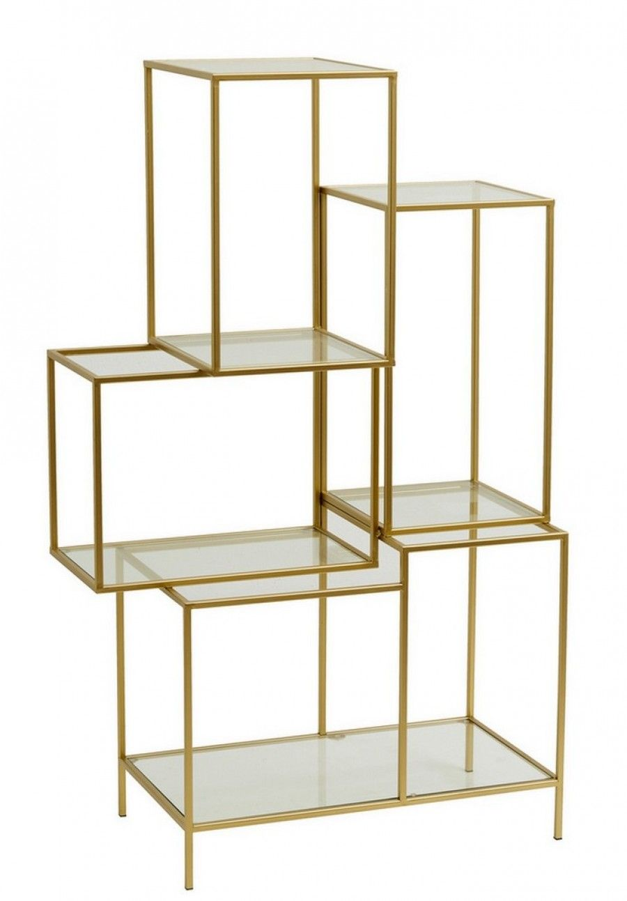 Regal Design Regal Metall Glas Gold H 126cm | Regal Design, Regal Metall, Regal
