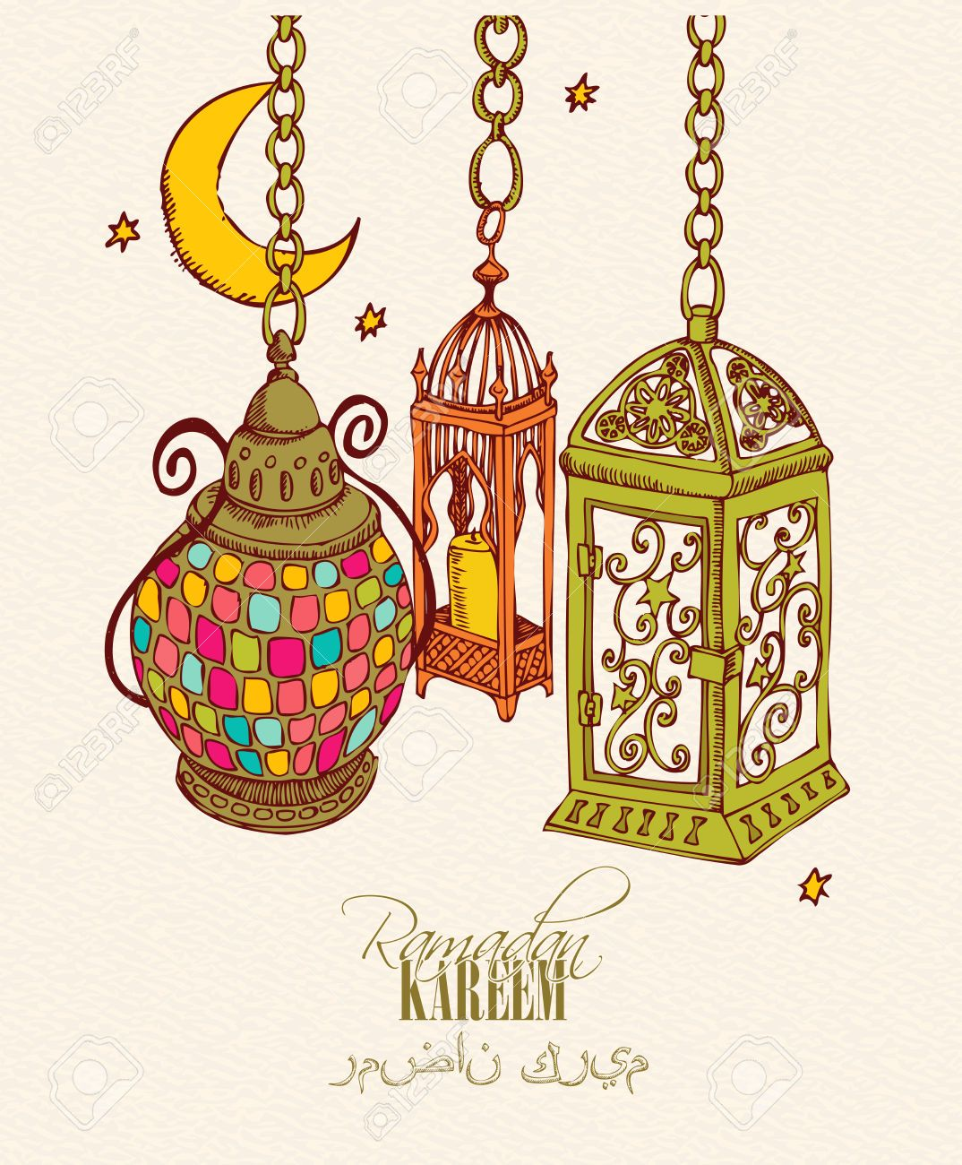 40185872 Creative Greeting Card Design For Holy Month Of Muslim