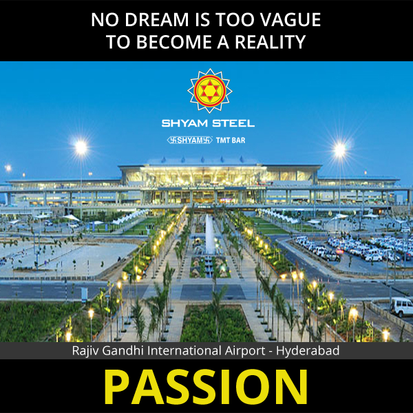 """""""It has been ranked 3rd Best Airport in the World in 5-15 Million Passengers Per Annum category in the Airport Service Quality Awards. Giving shapes to imagination - Shyam Steel www.shyamsteel.com #ShyamSteel #Steel #TMT #TMTBars #Passion"""""""