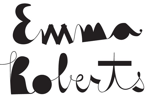 emma roberts typography from foam magazine fashion spread.