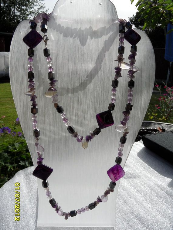 Hematite and Agate Puffy Squares with by therealmgemsdesign,   £96.26