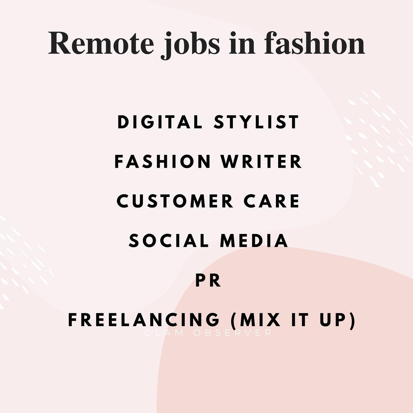 Want To Work In Fashion From Home These Are The Best Career Options To Pursue You Can Choose One Or Become A Freelance And Mix It Up And Work With Different B