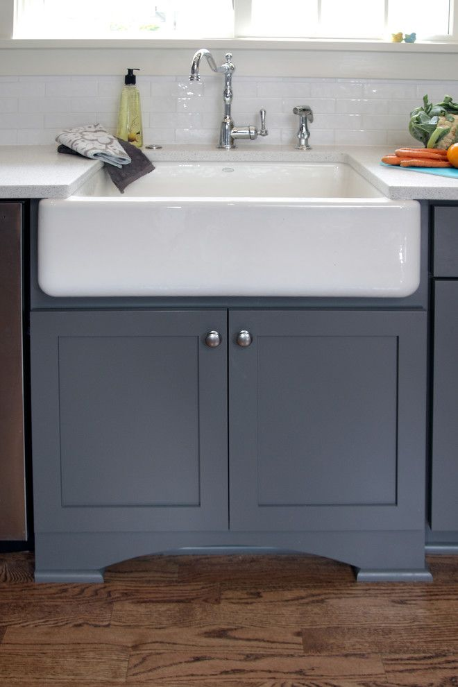 Gorgeous apron sinks in Spaces Transitional with Kohler Brockway ...