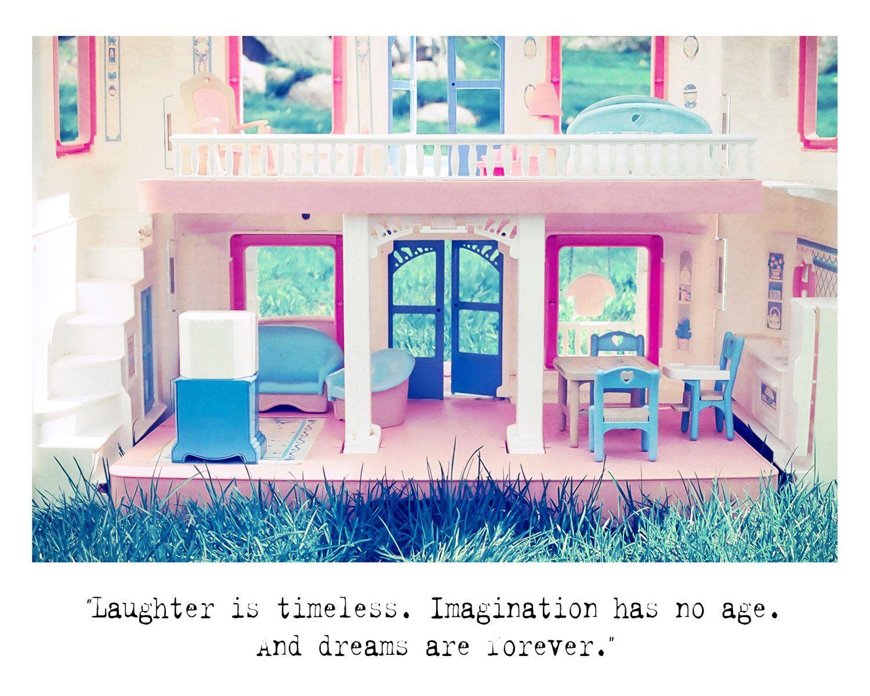 Fine art photography quote print dollhouse child art film wall