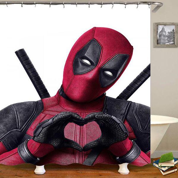 Cartoon Anime Hero Spiderman 3d Digital Printing Pattern Bathroom