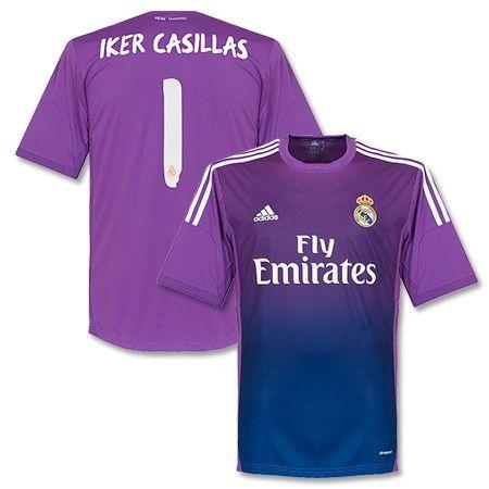 Camiseta de Portero del Real Madrid 2013-2014 Local + Iker Casillas ... 5357f457c98ec