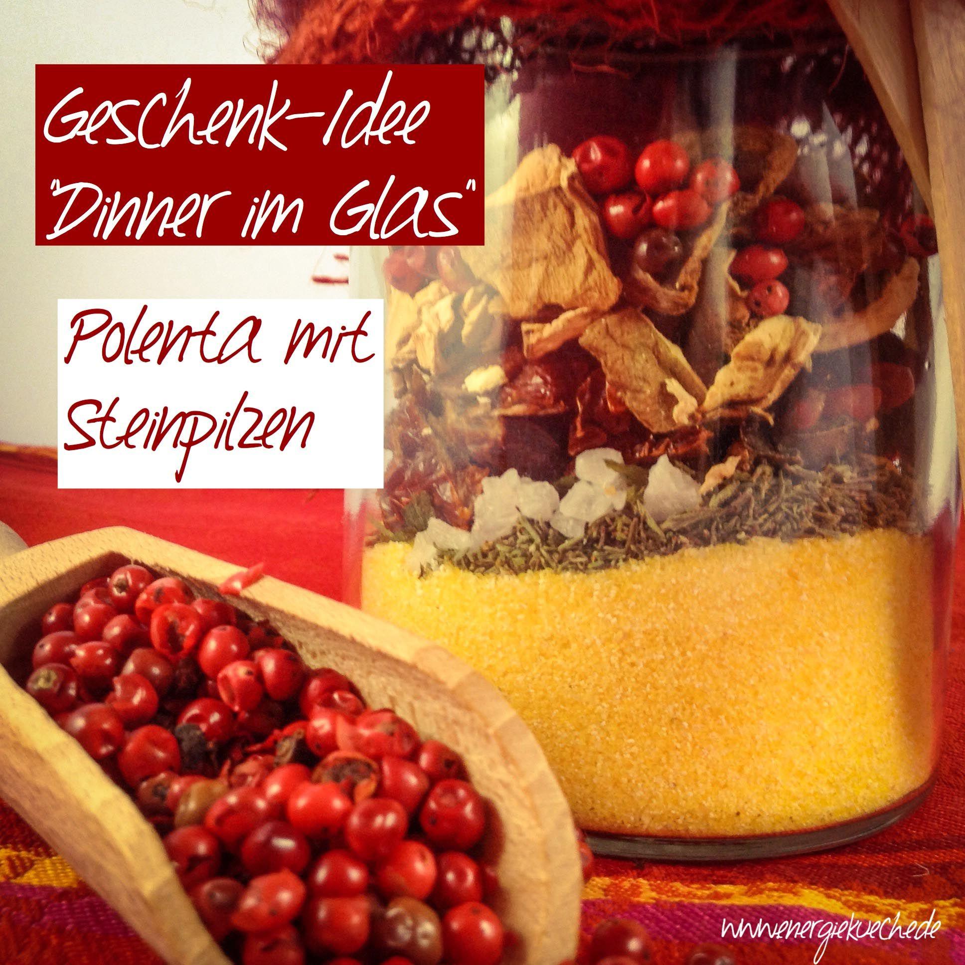 Polenta-Pilz-Mix im Glas // Geschenkidee für Genießer aus der Energieküche // http://energiekueche.de/2015/12/polenta-pilz-mix-im-geschenkglas/