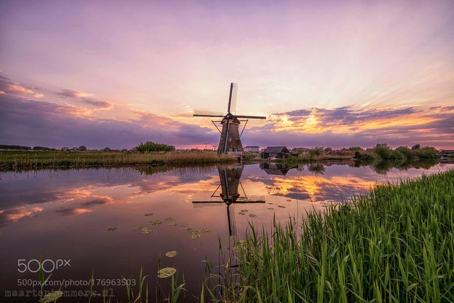 Kinderdijk Holland by maartentummers. @go4fotos