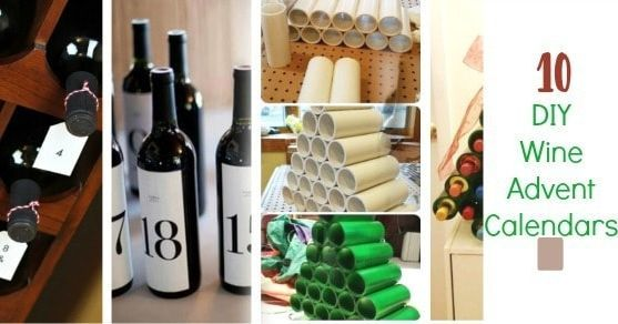 10 DIY Wine Advent Calendars #wineadventcalendardiy 10 DIY Wine Advent Calendars #wineadventcalendardiy