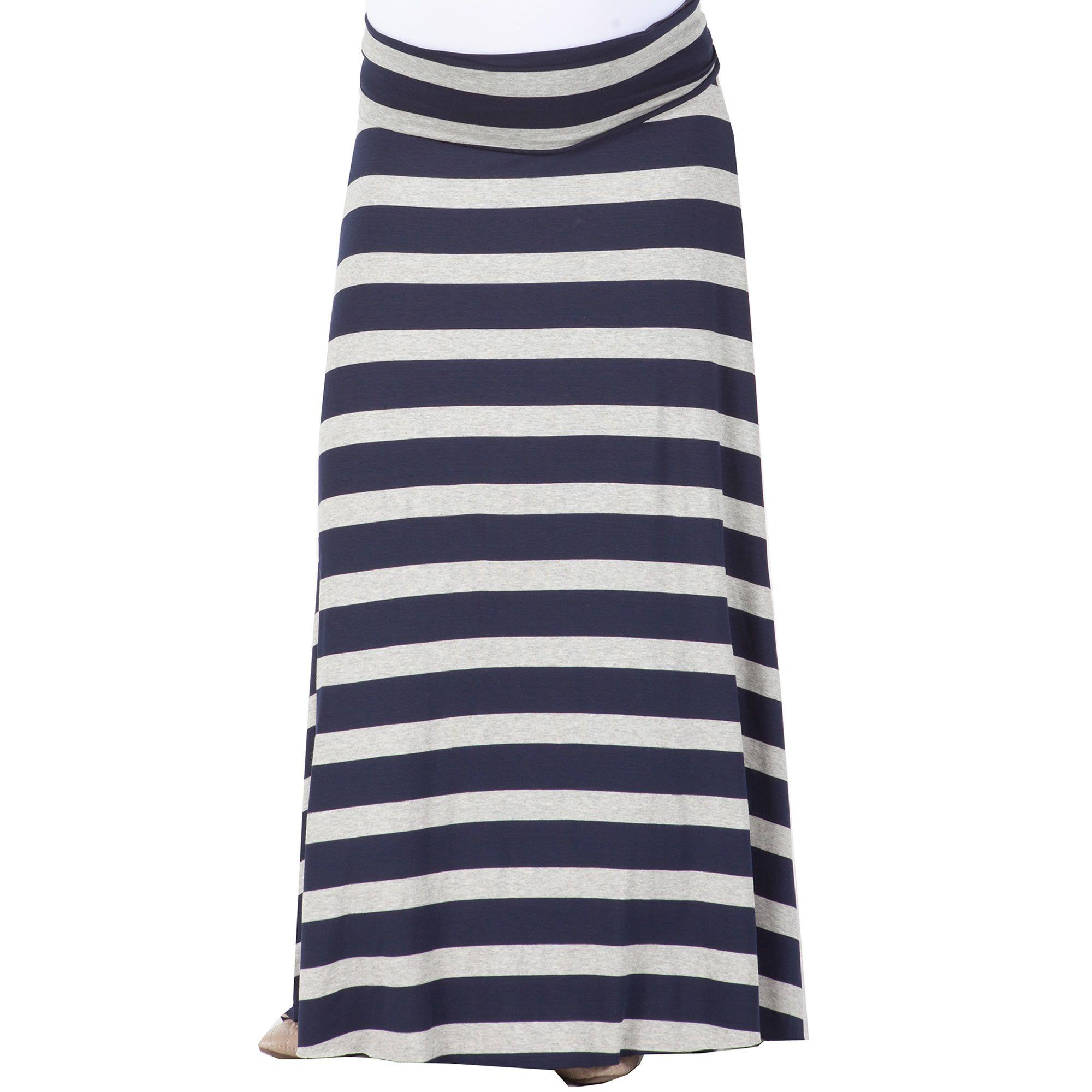 NOM Stripe Rachael Long Skirt
