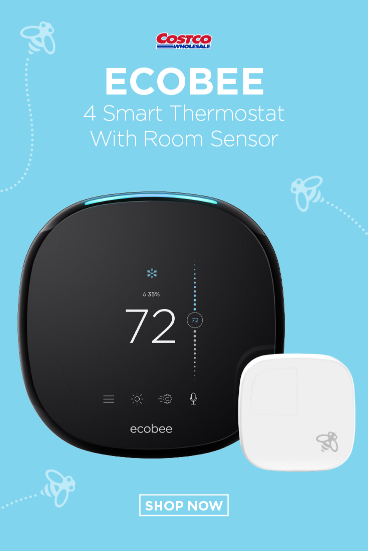 Ecobee 4 Smart Thermostat With Room Sensor In 2020 Ecobee