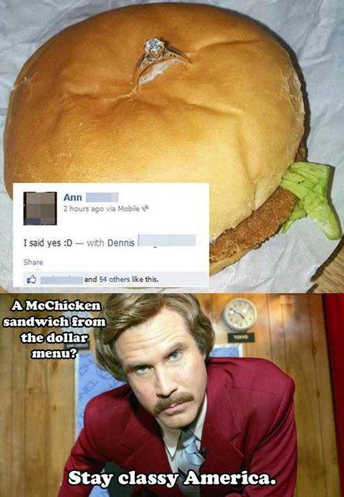 Burger Proposal #America, #American, #Funny, #Proposal