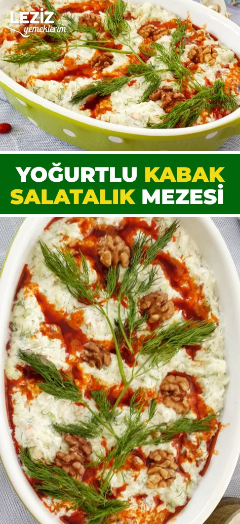 Yoğurtlu Kabak Salatalık Mezesi