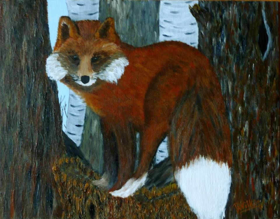 """""""Fox Trot"""".  Prints available, signed by artist from info@aframestudios.ca"""