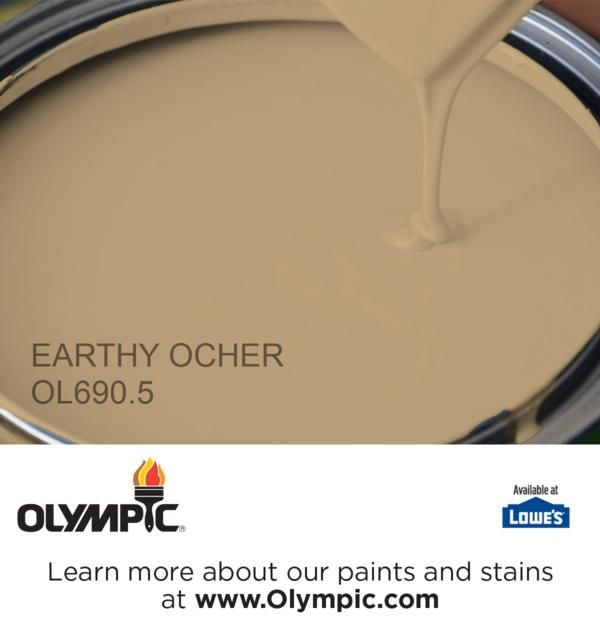 Earthy Ocher Ol690 5 Is A Part Of The Beiges Collection By Olympic Paint
