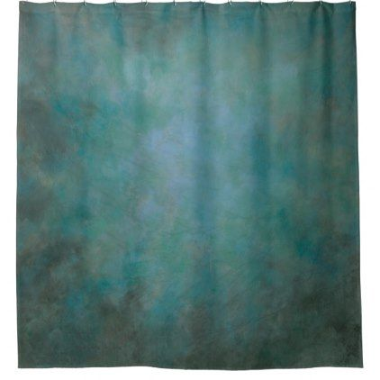 Dramatic Aqua Blue Green And Gray Shower Curtain