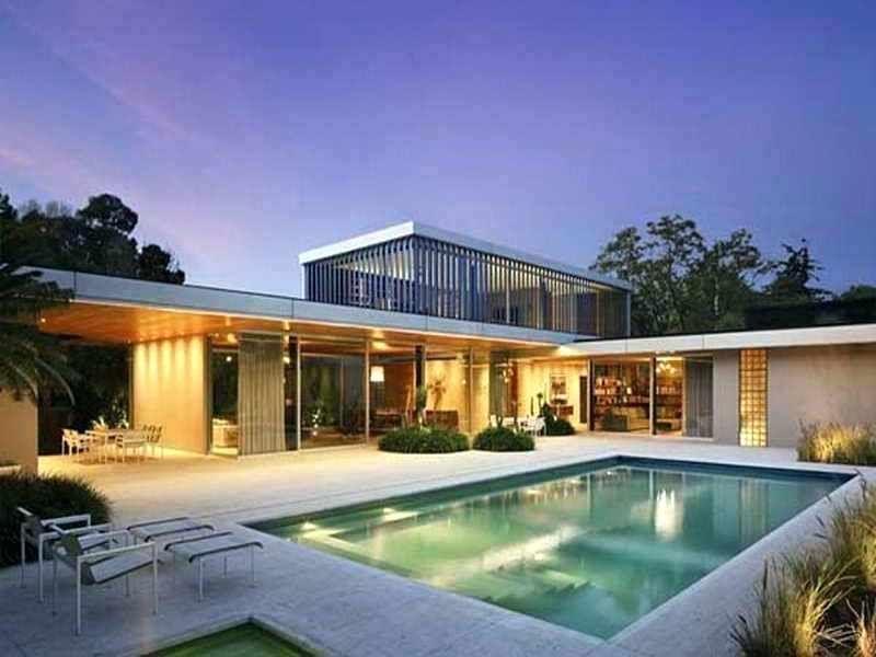 Modern C Shaped House L U Shaped Mid Century Modern House Plans Modern House Plans L Shaped House L Shaped House Plans