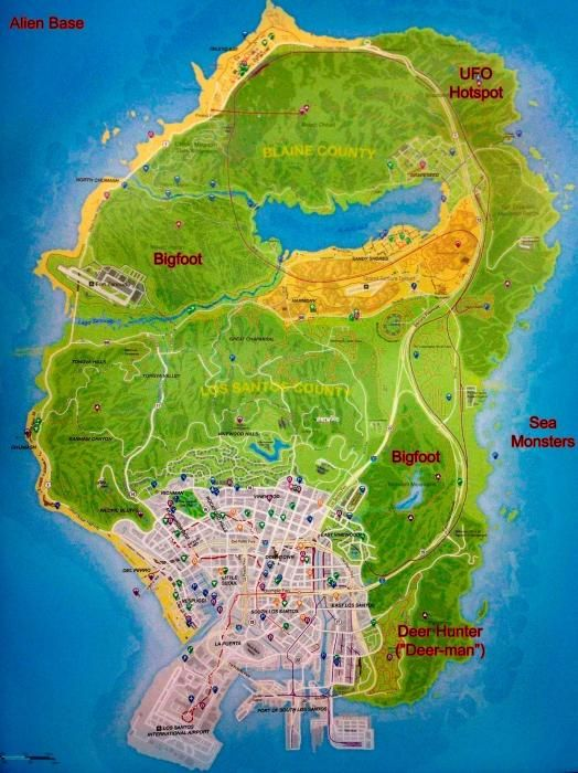 this is a map that shows you gta 5 easter eggs easter eggs are secret places or things you find in games - Gta V Secret Cars