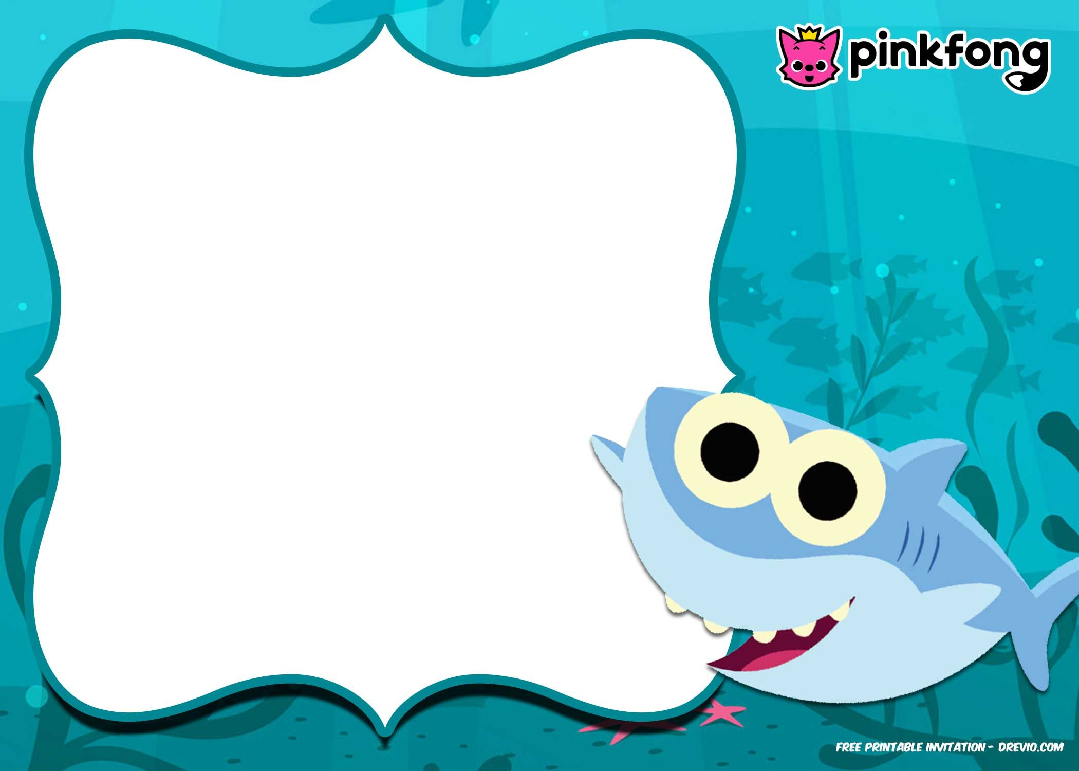 photograph about Free Printable Birthday Invitation Templates named No cost Printable Child Shark Pinkfong Birthday Invitation